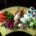 sashimi and suhi lunch combo